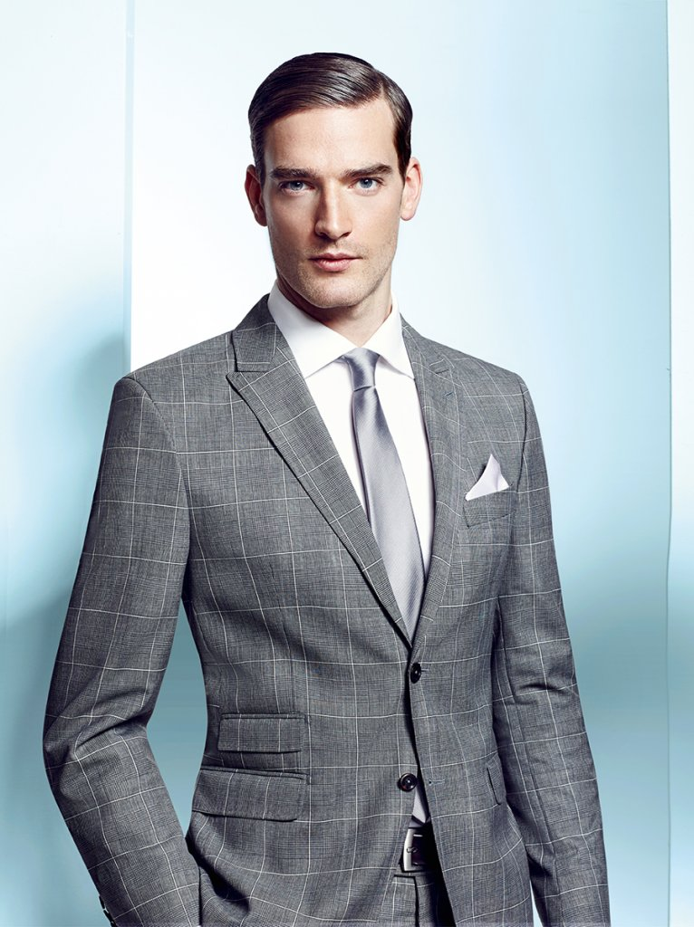 Light Grey window-pane check suit - Tom Murphy's Formal and Menswear