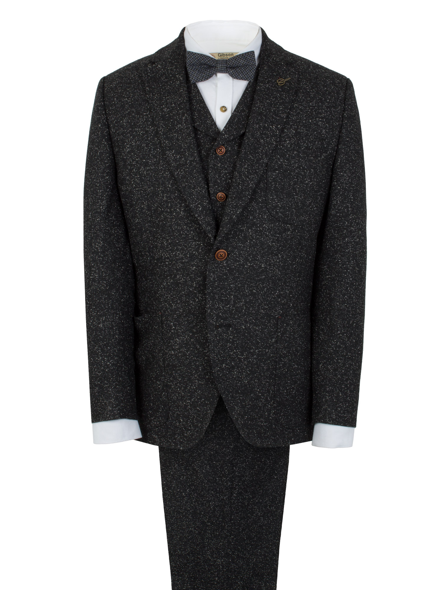 Black Donegal Tweed Suit - Tom Murphy's Formal and Menswear