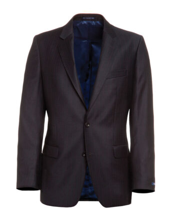 Dark Brown Pinstripe Suit