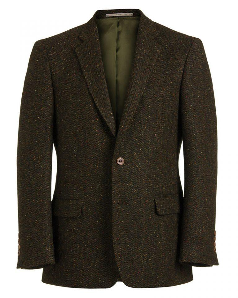Gold Fleck Dark Brown Tweed Jacket 51831 Tom Murphy Menswear