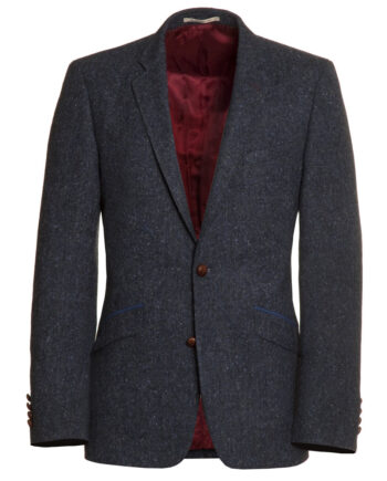 Navy Blue Fleck Tweed Jacket dik2epa14-tom-murphy-menswear-0025654
