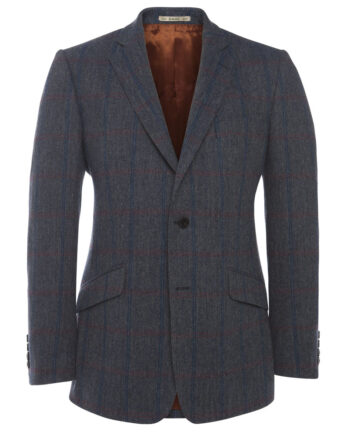Blue Purple Check Tweed Tom Murphy Mens