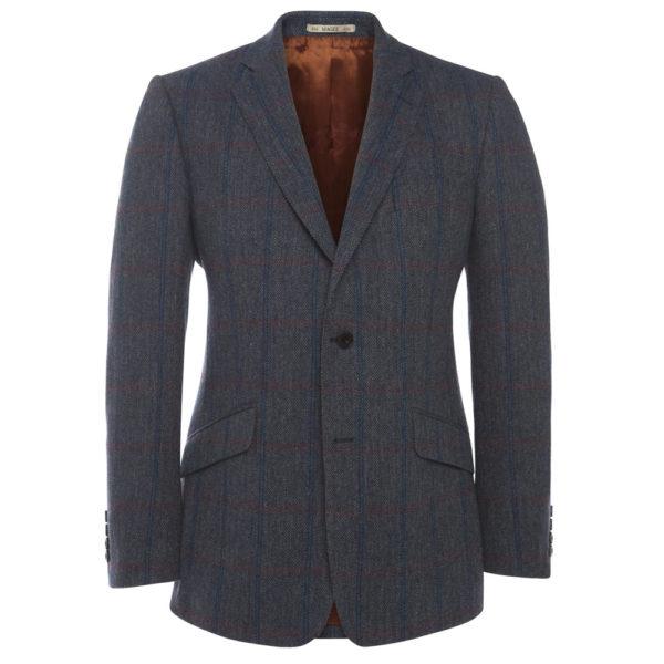 Blue Purple Check Tweed Tom Murphy Mens