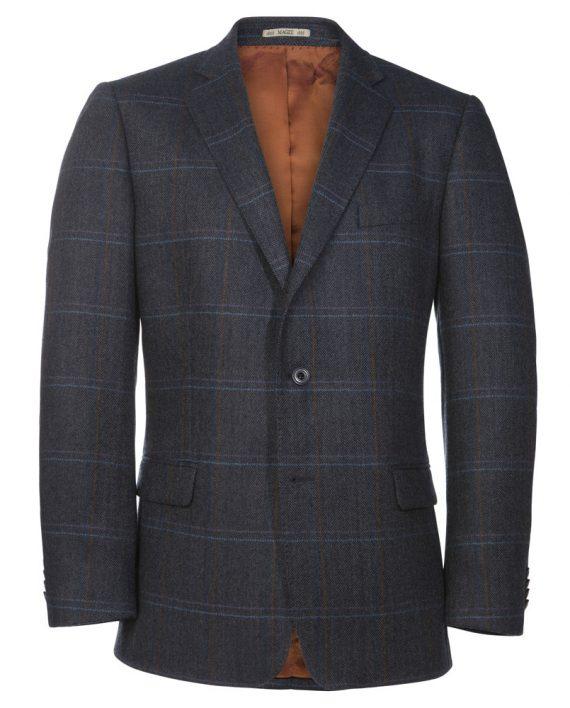 Navy Blue Check Jacket Tom Murphy Menswear Magee , Ireland_O1V4859.CR2