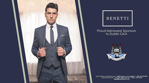 Benetti - Dublin GAA Suits available at Tom Murphy Menswear