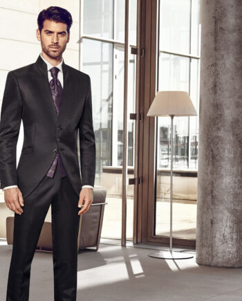Elegant Black Morning Coat 3 piece