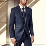 Blue Wool-Mohair Elegant suit