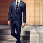 Dark Blue Wool-Silk Suit
