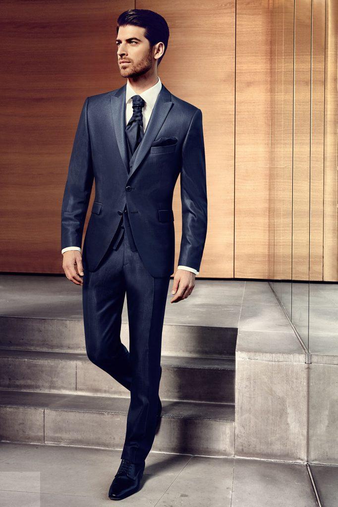 Dark Blue Wool Silk Suit Tom Murphy S Formal And Menswear