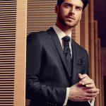Dark Blue Wool 3 Piece Suit