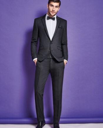 Black Jacquard Dinner Suit