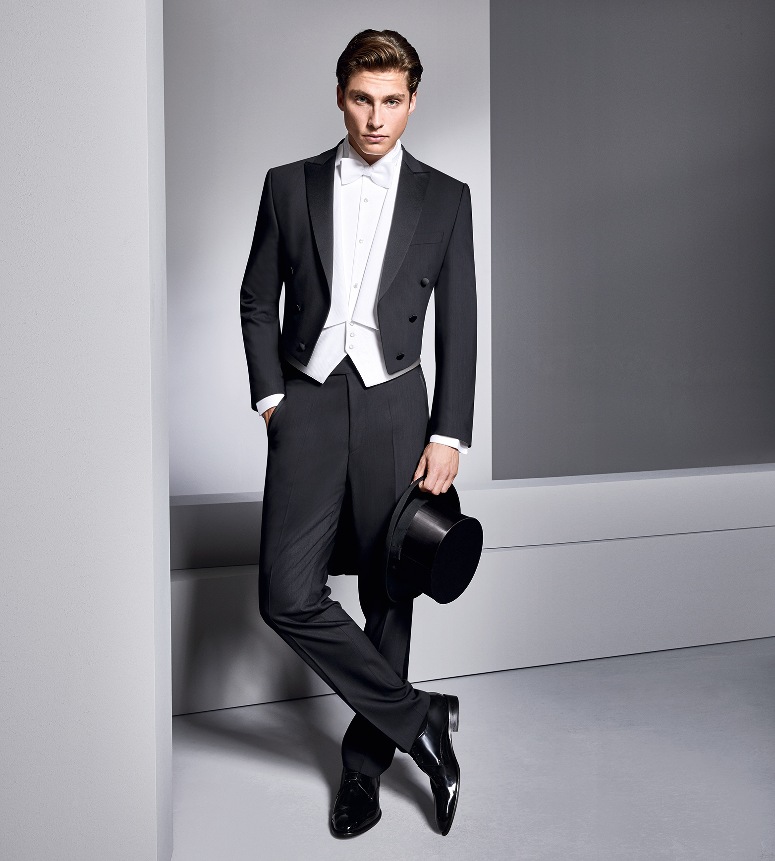 Black Evening Tails With White Waistcoat Tom Murphy S