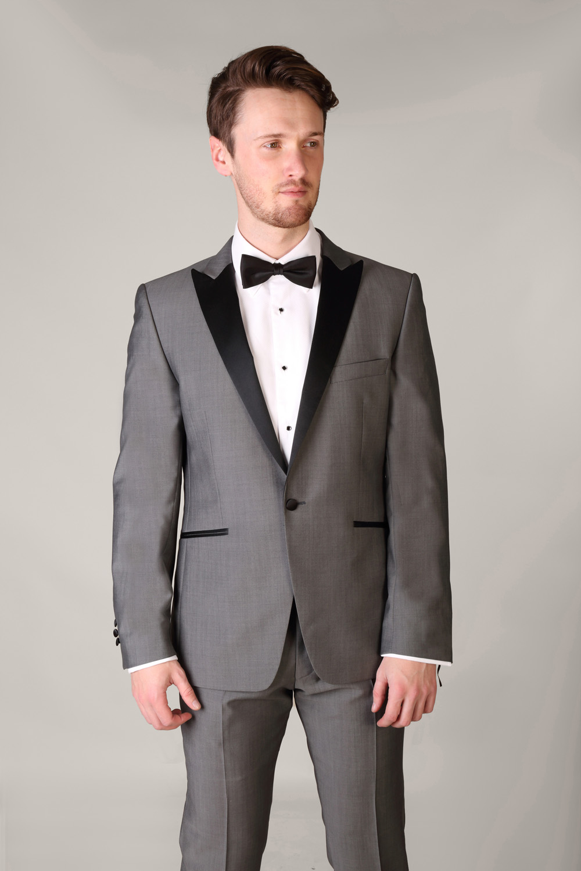 Grey Tuxedo With Silk Low Cut Vest Tom Murphy S Formal