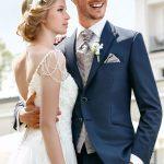 Elegant Blue Wedding Suit