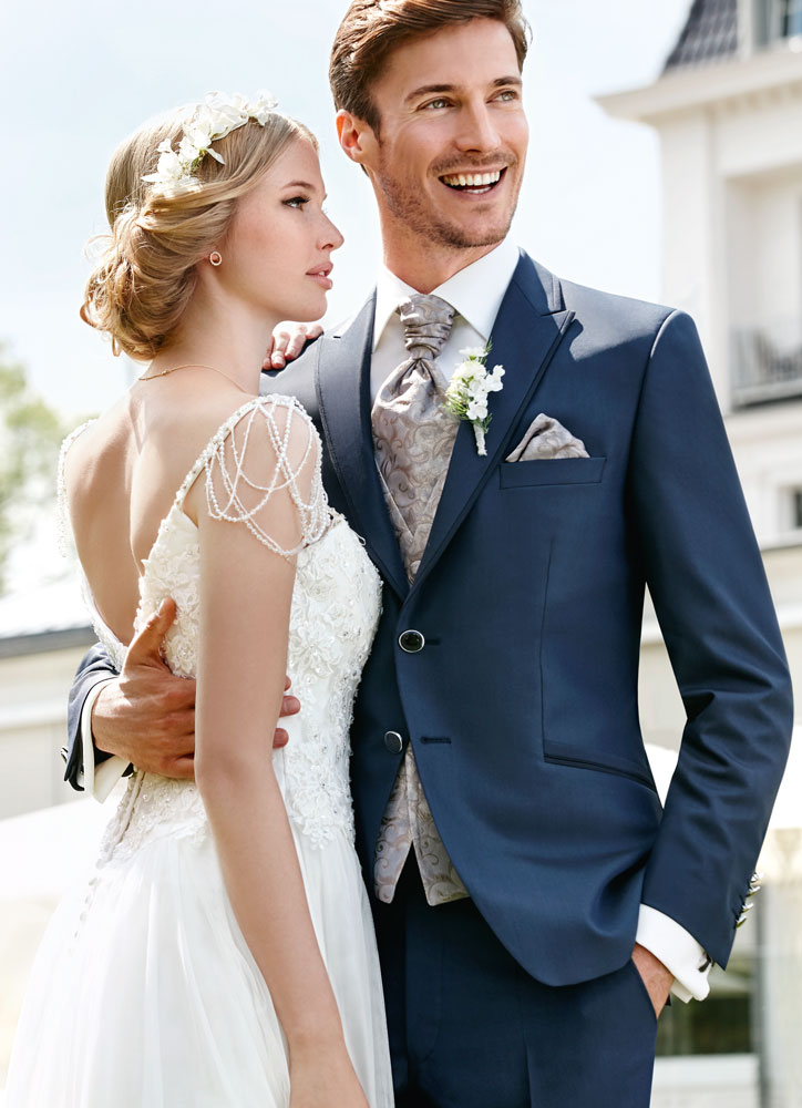 Elegant Blue Wedding Suit - Tom Murphy\'s Formal and Menswear