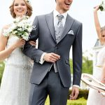 Elegant Pearl Blue Wedding Suit