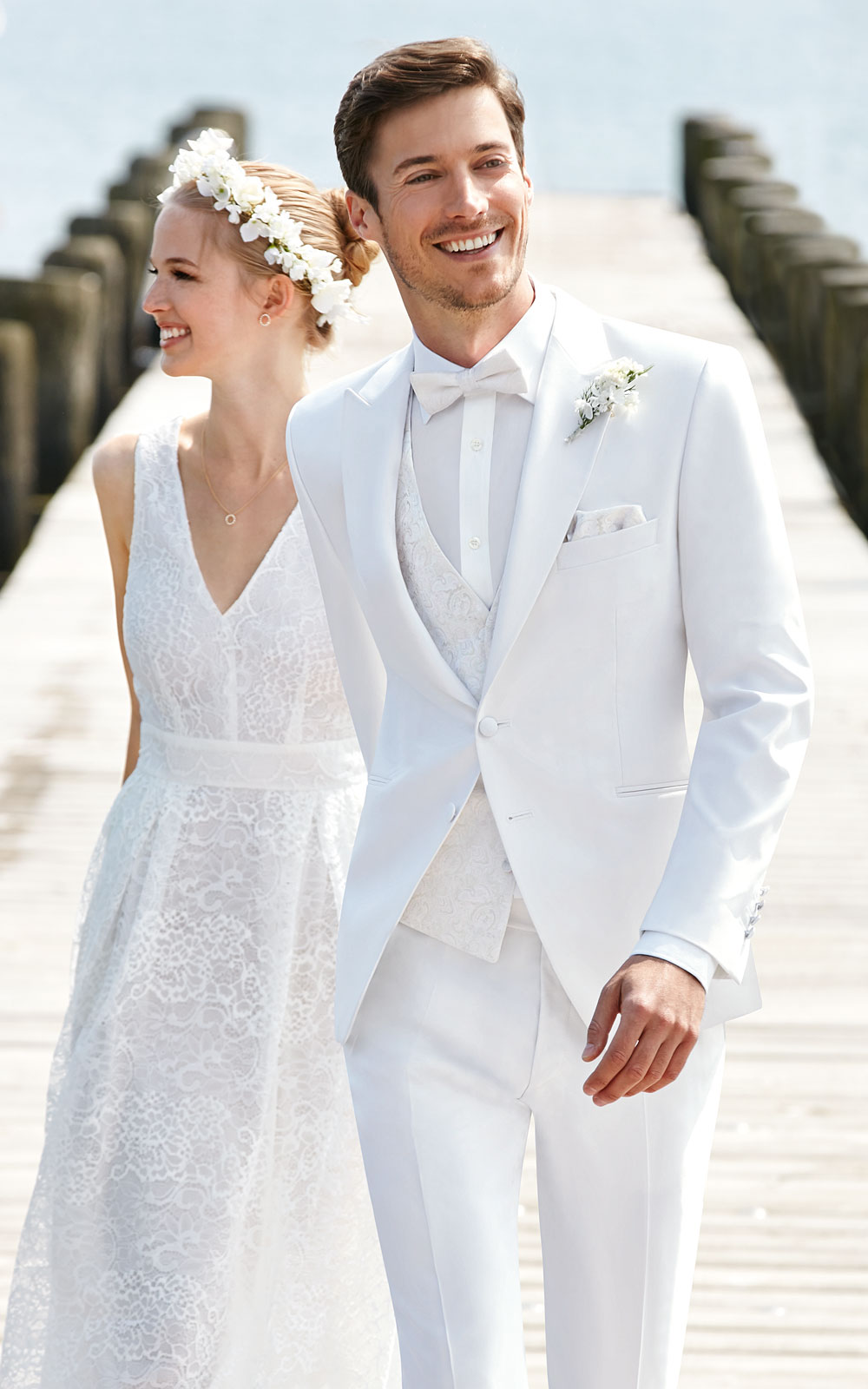 Elegant White Wedding Suit - Tom Murphy\'s Formal and Menswear