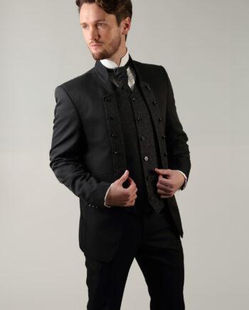 Tziacco Gunmetal Floral 3 piece suit