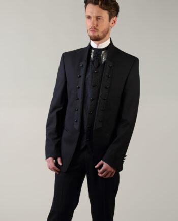 Tziacco Navy Floral 5 piece suit