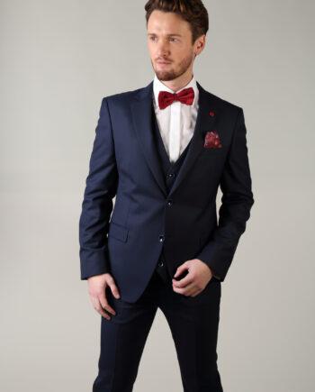 Comfort Fit Navy Benetti 3 piece suit