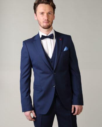 Royal Blue 3 piece suit Comfort Fit