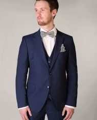 Benetti Micro Pattern Blue 3 piece suit
