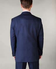 Navy Box Check Magee 3 Piece Suit