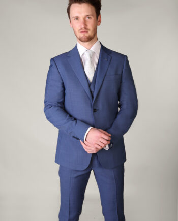 Van Gils Electric Blue 3 Piece Suit