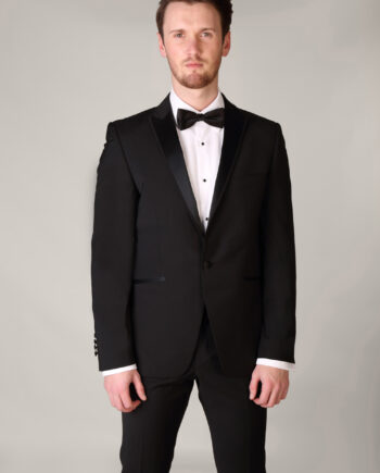 Peak Lapel Tuxedo with Trimmed Edge