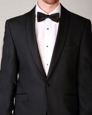 Super 120 Pure New Wool Black Tuxedo