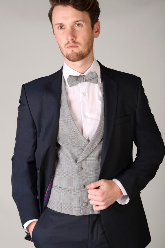 Double Breasted Anthony Check Waistcoat