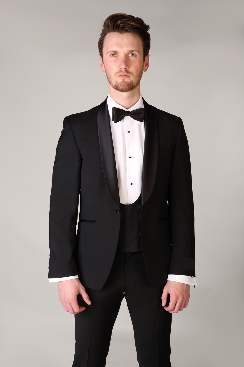 Shawl Collar Tuxedo with Double Breasted Waistcoat