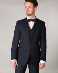 Teal Tweed Waistcoat Matching Bow