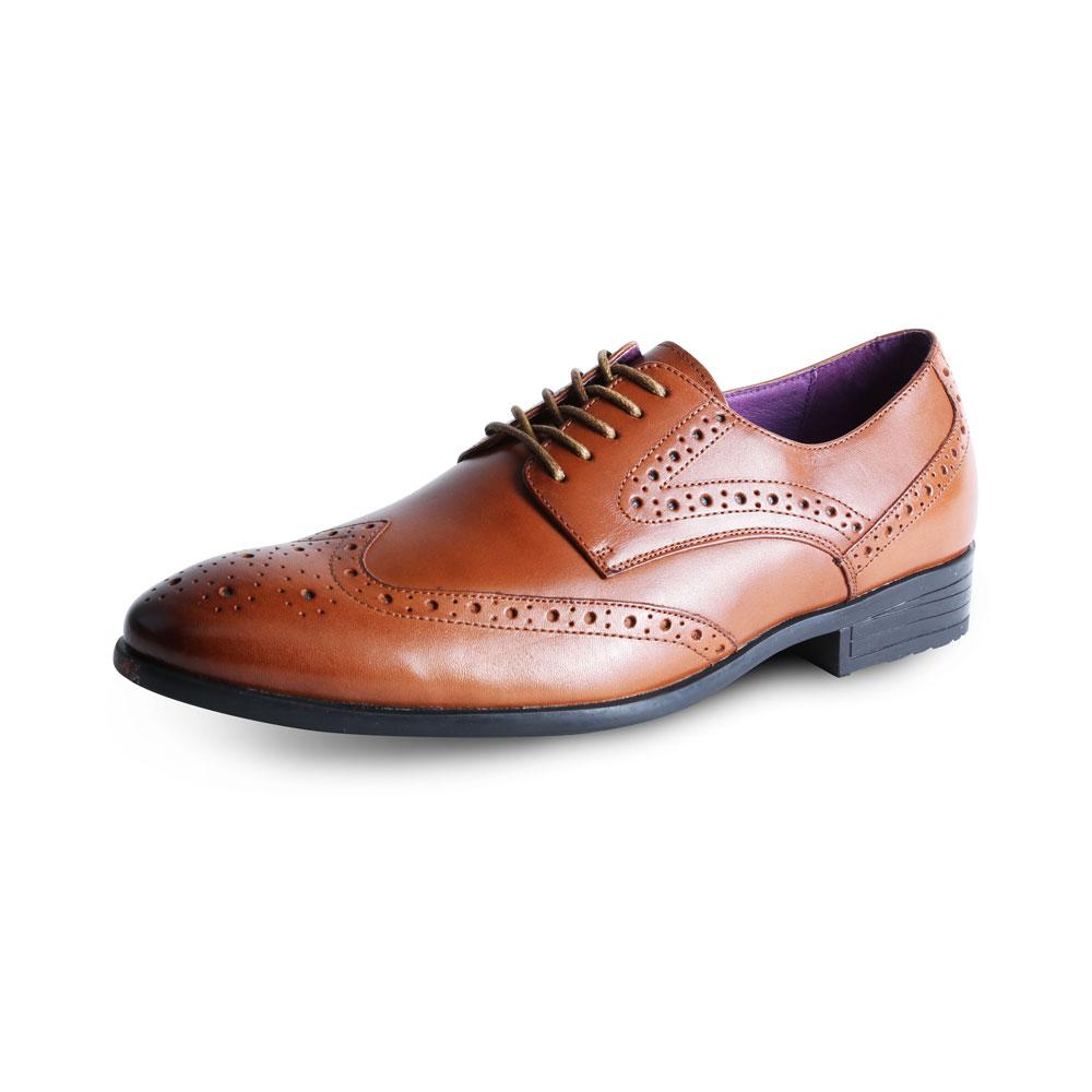 Burford Tan Shoe by Azor