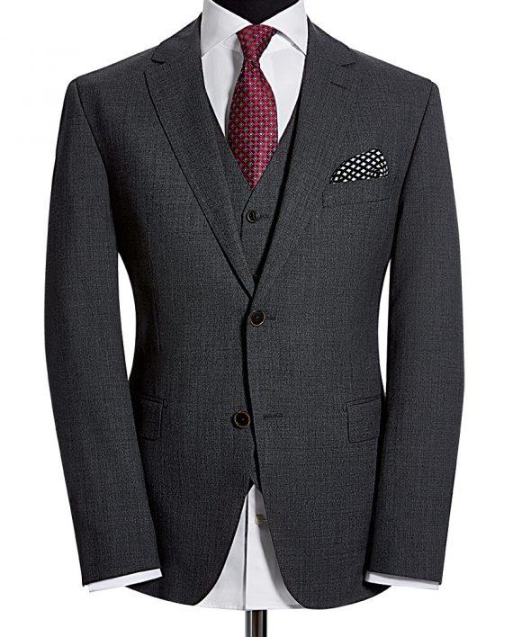 Slate Grey Tollegno 3 Piece Suit CORPUSLINE FS2017 S10 Sakko TOLLEGNO Art571704