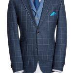 Zignone Blue Grey Check Jacket