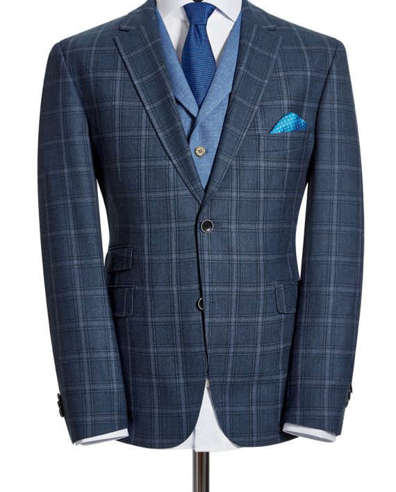 Zignone Blue Check CORPUSLINE_FS2017_S14_Art571904