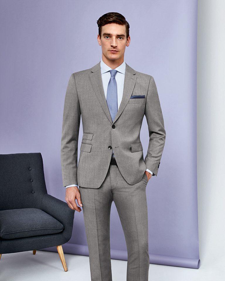 Pale Grey RED 2 Piece Suit CORPUSLINE FS2017_S4 Anzug REDA Art571711