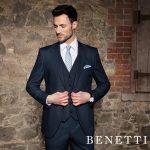 Etro Steel Blue 3 Piece Suit by Benetti