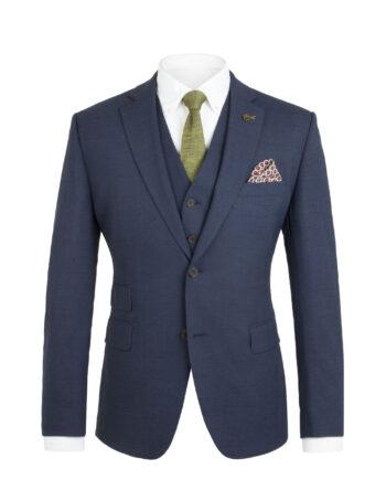 Gibson Blue Melange 3 Piece Suit