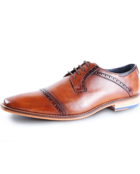 Langho Derby Tan Shoe by Goodwin Smith