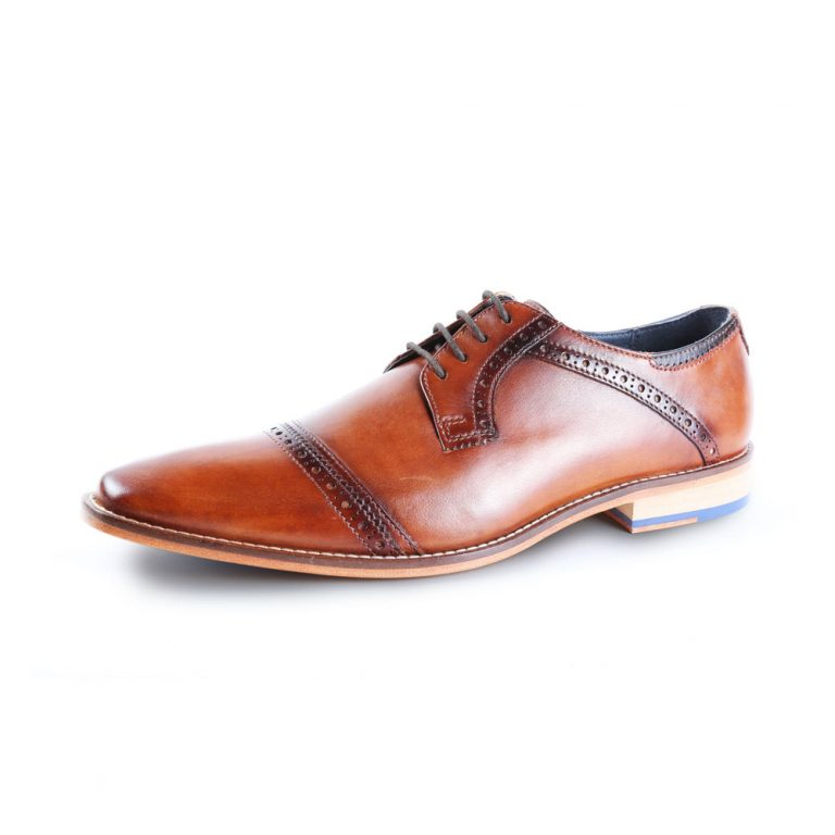 Langho Derby Tan Shoe by Goodwin Smith