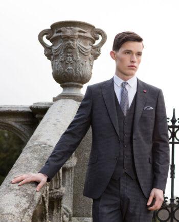 Paris Grey 3 Piece Suit by Benetti