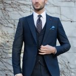 Paris Navy 3 Piece Suit by Benetti