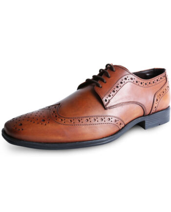 Patterned Leather Tan Shoe