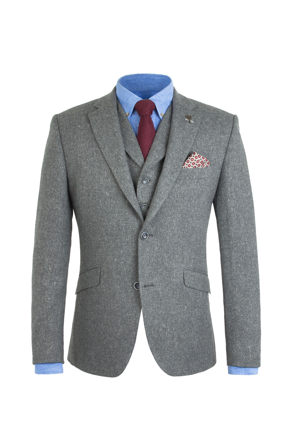 Grey Donegal Tweed 3 Piece Suit Tom Murphy S Formal And Menswear
