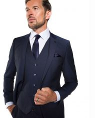 Cusack Navy 3 Piece Suit by Benetti