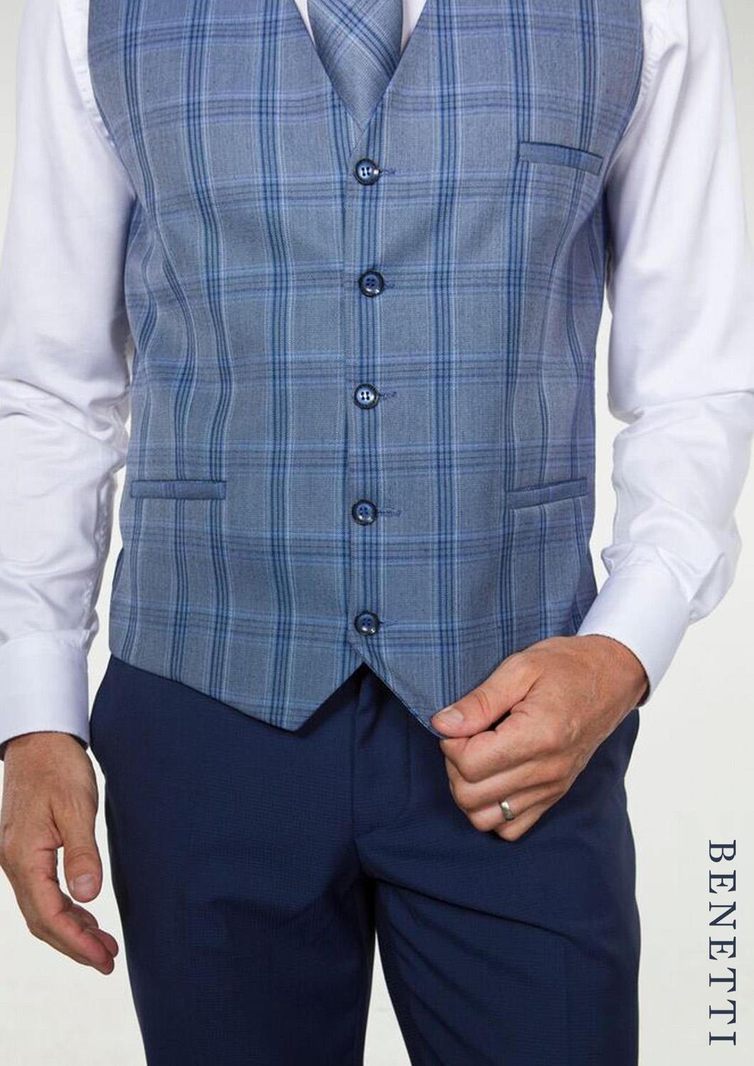 Hogan Petrol Blue Suit with Harold Waistcoat from Tom Murphy Menswear