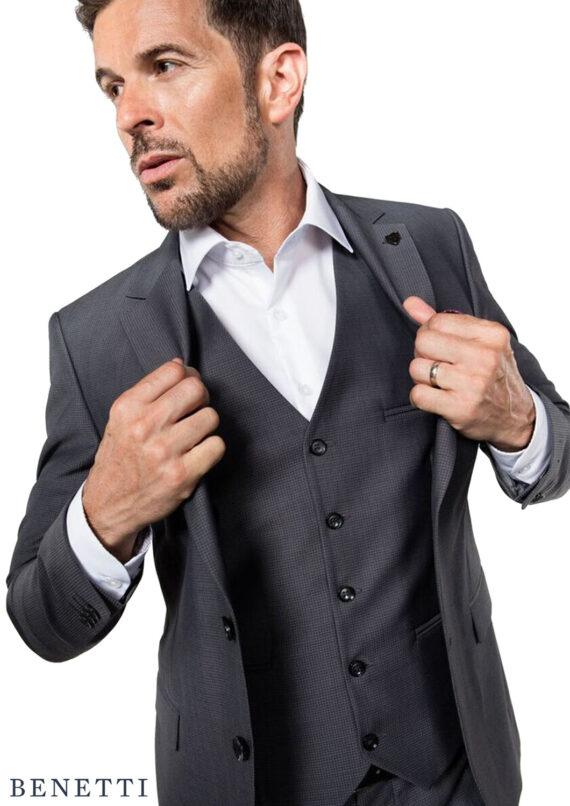 Hogan Grey 3 Piece Suit