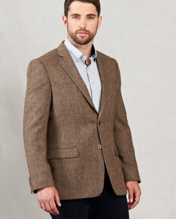 Gold Herringbone Tweed Magee Blazer